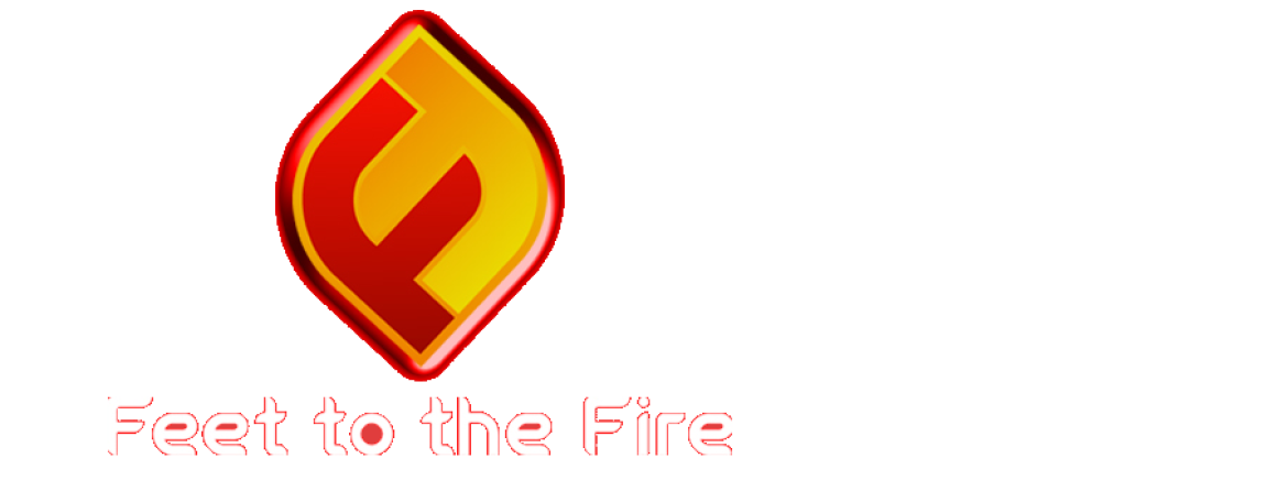 Feet to the Fire Politics: Conservative Talk Show Logo