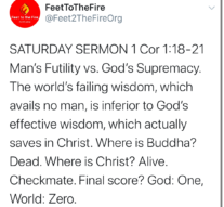 Saturday Sermons 10/3/20